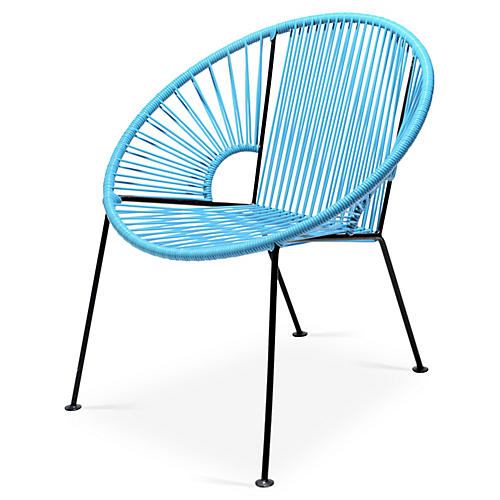 Ixtapa Lounge Chair, Baby Blue