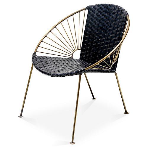 Ixtapa Lounge Chair, Black Leather