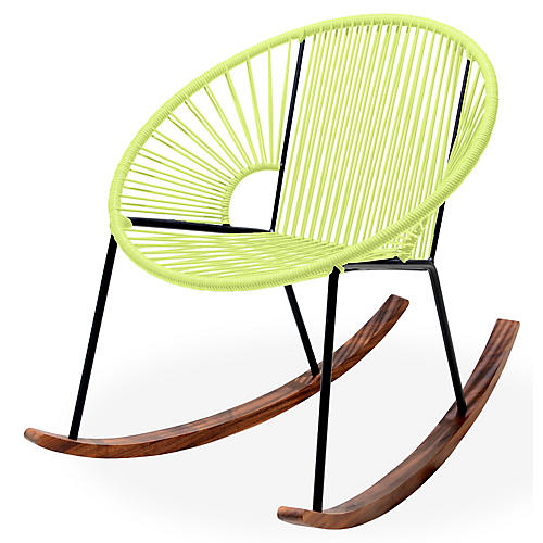Ixtapa Rocking Chair, Apple Green
