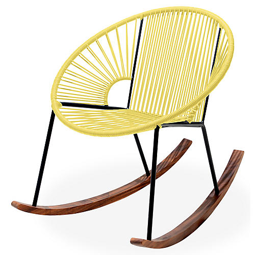 Ixtapa Rocking Chair, Yellow