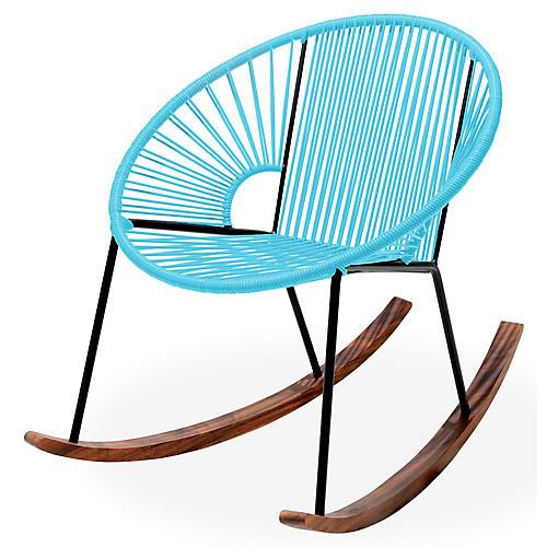 Ixtapa Rocking Chair, Baby Blue