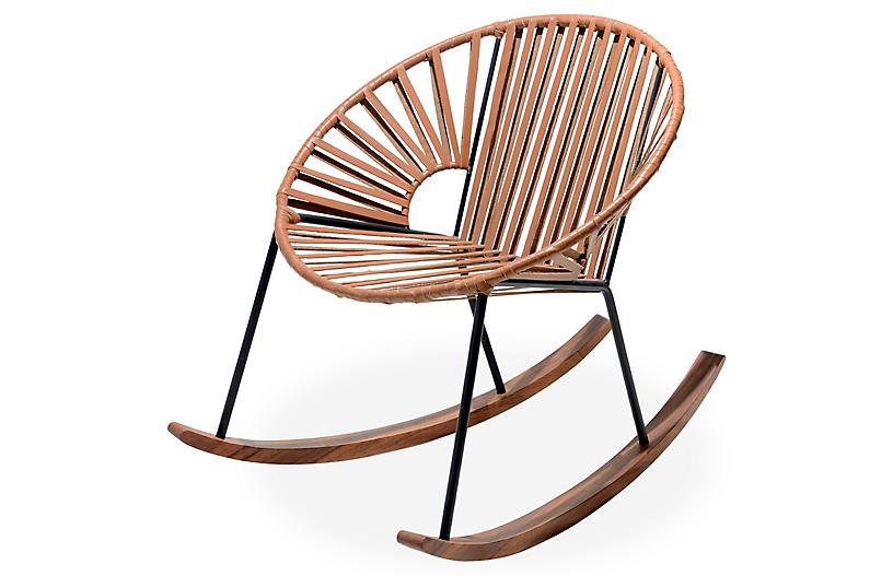 Ixtapa Rocking Chair, Camel Brown