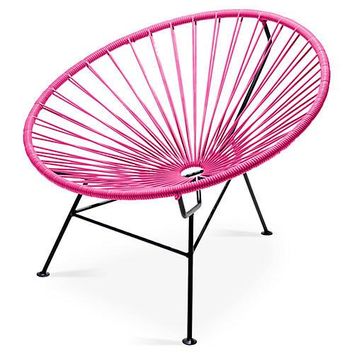 Sayulita Lounge Chair, Magenta