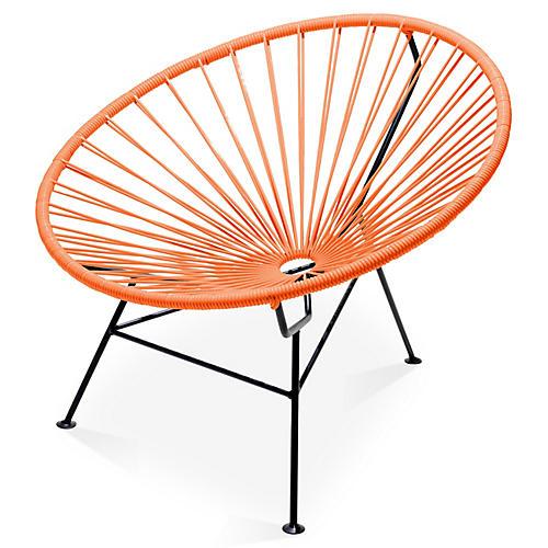 Sayulita Lounge Chair, Tangerine