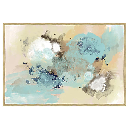 Blue Sky Abstract Inverse-Framed Giclée