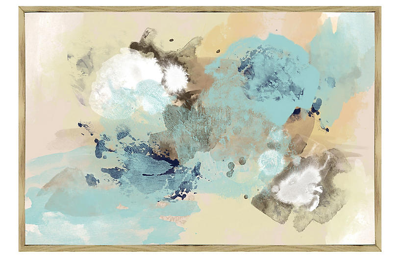 Blue Sky Abstract Inverse Framed Giclee