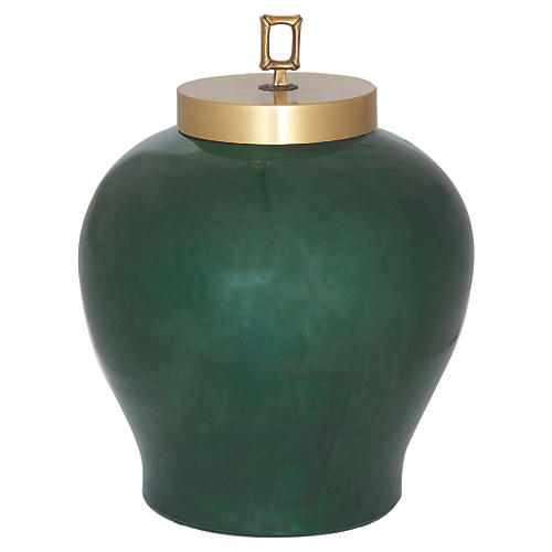 "15"" Melrose Jar, Emerald"