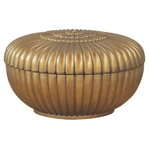 "11"" Savoy Box, Gold"