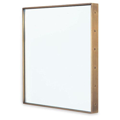 "Patrick 18"" Wall Mirror, Brass"