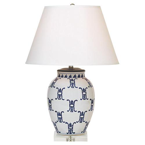 Longevity Table Lamp, Navy