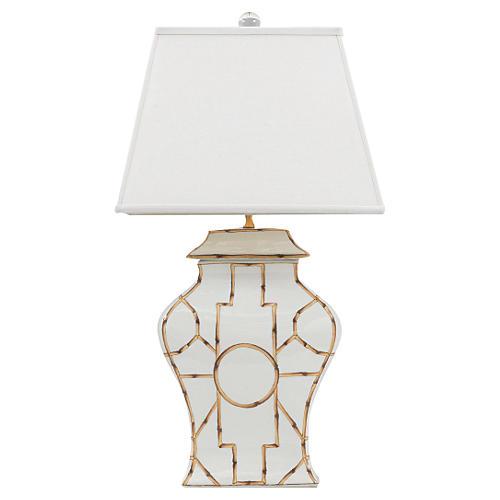 Baldwin Table Lamp, Cream