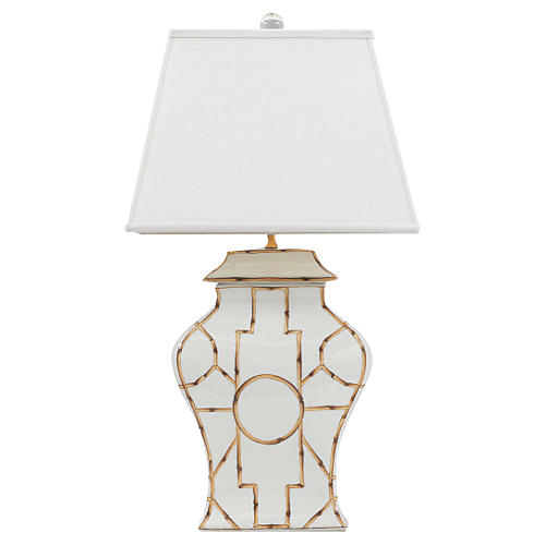 Baldwin Table Lamp, Cream