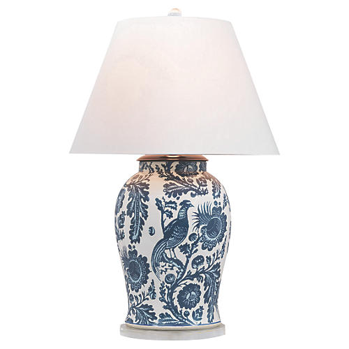 Arcadia Table Lamp, Indigo