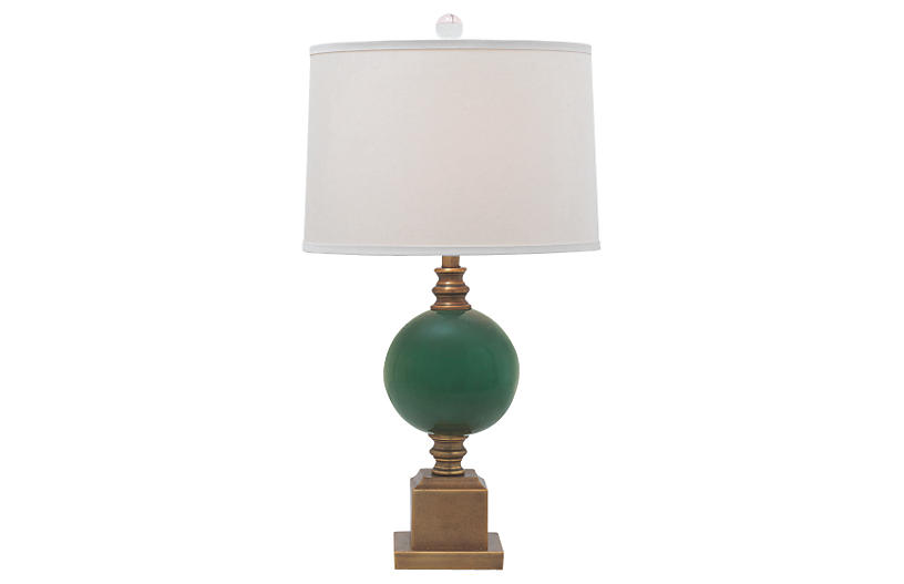 Rutherford Table Lamp, Emerald