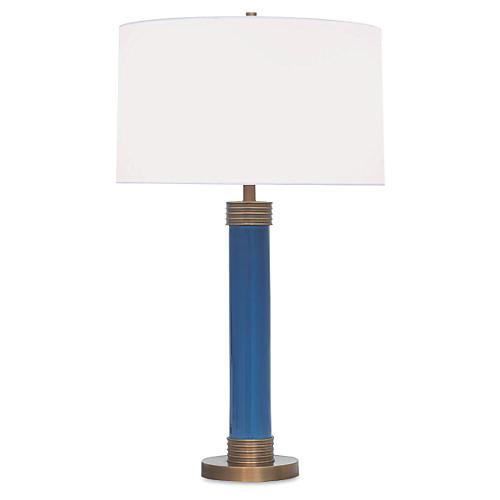 Dearborn Table Lamp, Blue