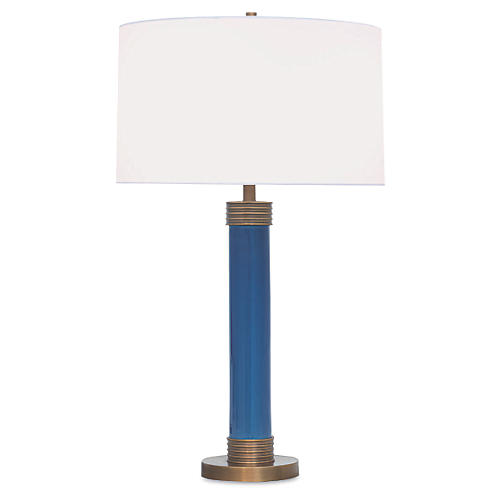 Dearborn Table Lamp, Blue
