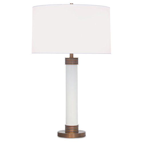 Dearborn Table Lamp, White
