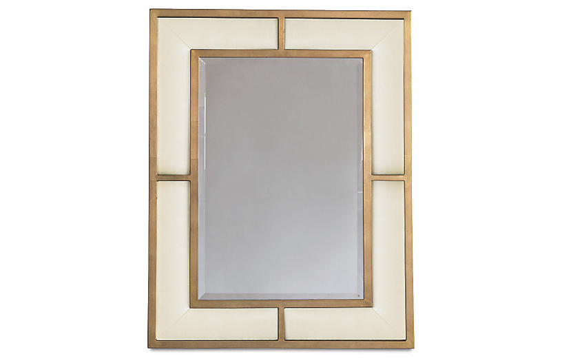 Bedford Wall Mirror, Sand/Gold
