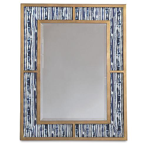 Bedford Wall Mirror, Indigo/Gold