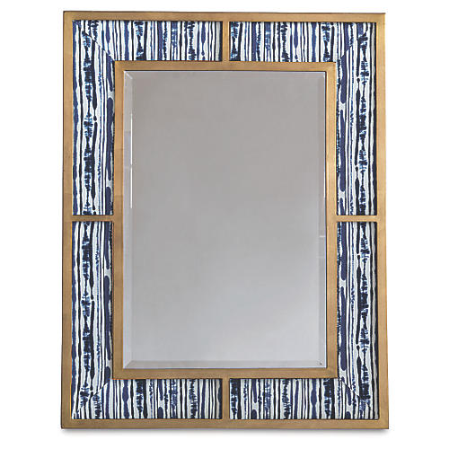 Bedford Wall Mirror, Indigo/Gold