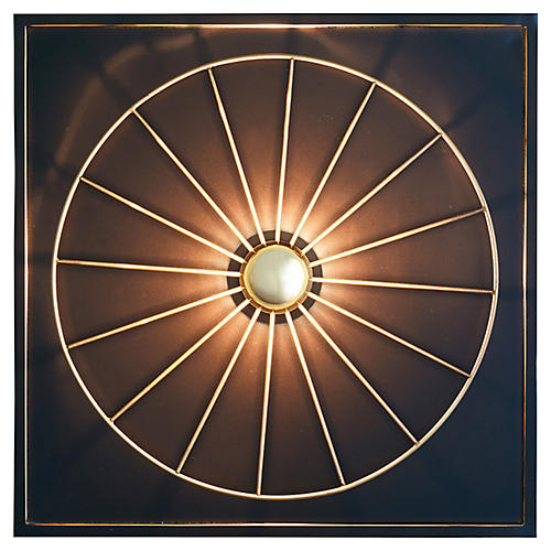 Boston Sconce, Bronze/Brass