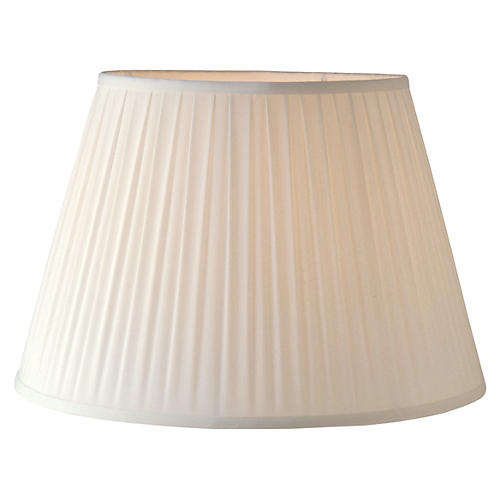 Pleated Lamp Shade, Off-White