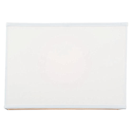 Softback Rectangular Lamp Shade, Off-White