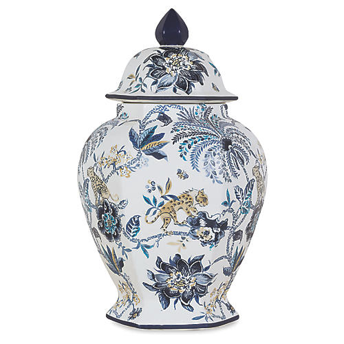 Braganza Jar, Blue/White
