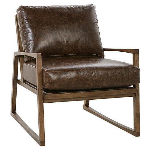Markus Chair, Brown Leather