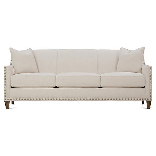 "Tightback 84"" Sofa, Beige"