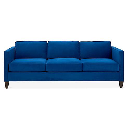 Cecilia Sleeper Sofa, Royal Blue Velvet