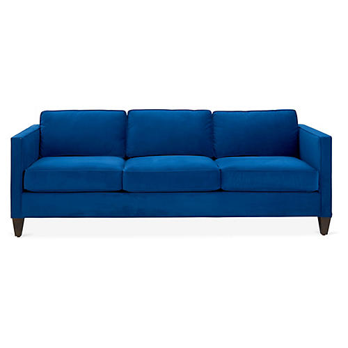 Cecilia Sleeper Sofa, Royal Blue Velvet