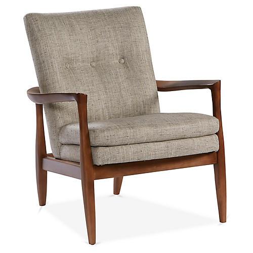 Harris Accent Chair, Smoke Gray