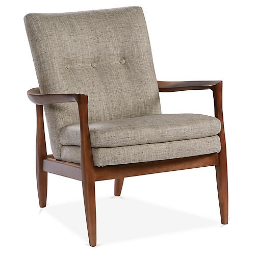 Harris Accent Chair, Smoke Gray