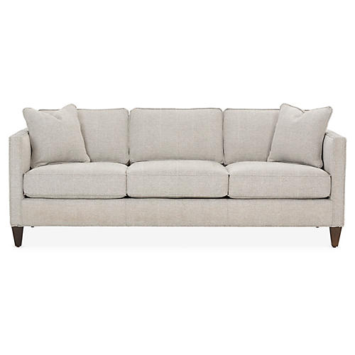 Cecilia Sleeper Sofa, Black/White