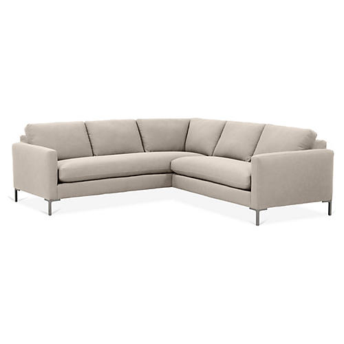 Amia Left-Facing Sectional, Greige Crypton