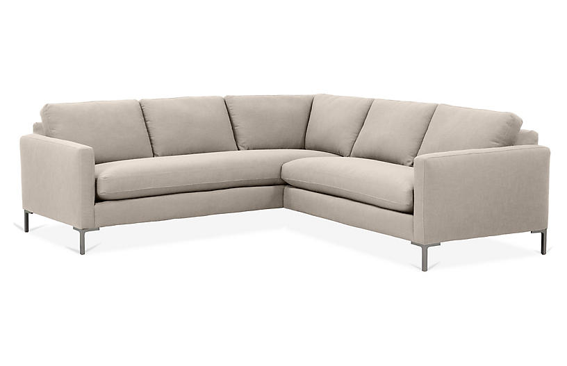hot sales 188c2 0bab8 Amia Left-Facing Sectional, Greige Crypton
