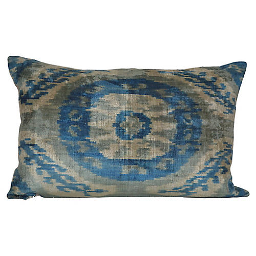 Dorian 16x24 Silk Pillow, Blue