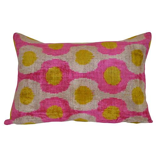 Rosa Ikat 16x24 Pillow, Pink