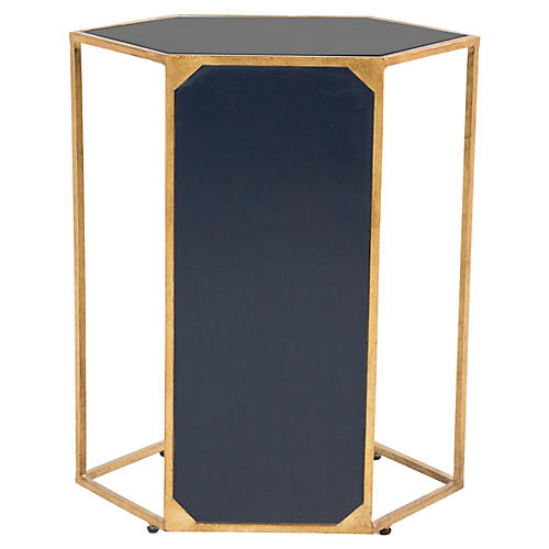 Danny C Side Table, Navy