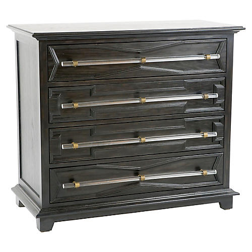 Hazel Dresser, Black Satin