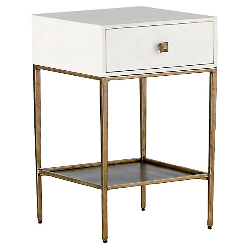 May Nightstand, White