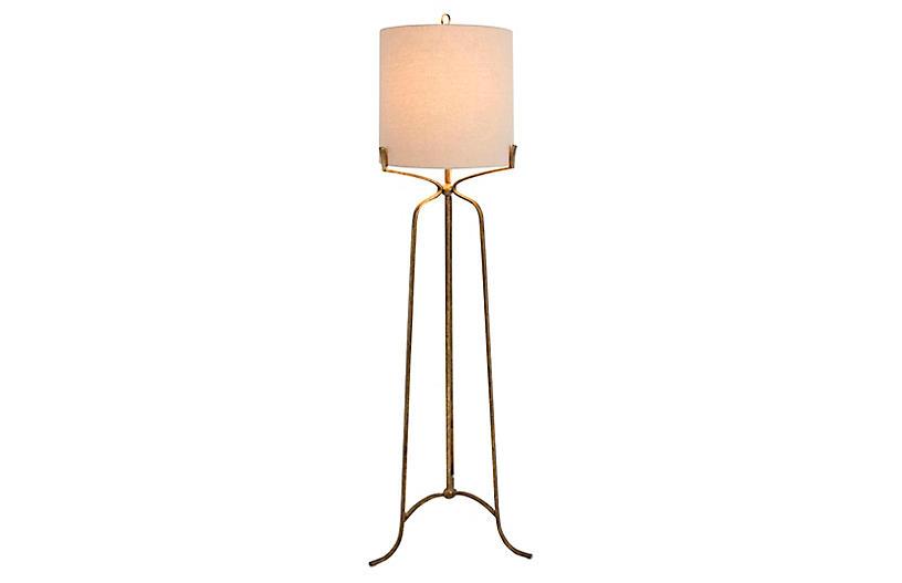 Evie Floor Lamp, Ashwell Gold