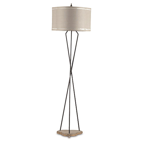Miranda Floor Lamp, Rusted Iron