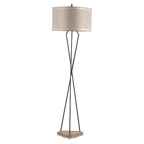 Miranda Floor Lamp, Rusted Iron