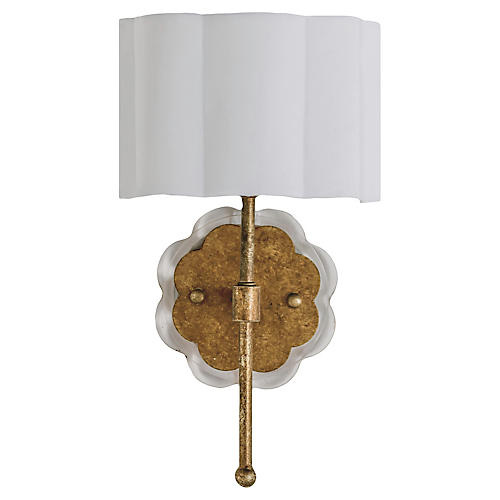 Shirley Sconce Gold, Ashwell Gold