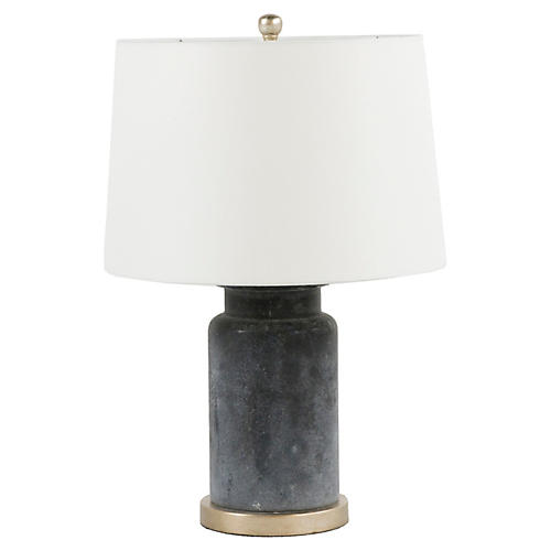 Gabby Cohen Table Lamp, Rustic Black/Silver