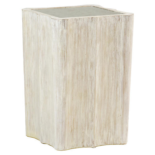 Leighton Side Table, Antiqued Mirrored