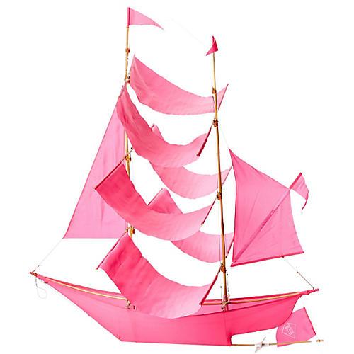 Sailing Ship Kite, Pink