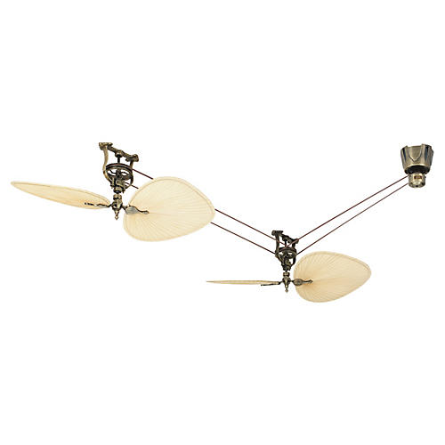 Brewmaster Ceiling Fan, Antiqued Brass